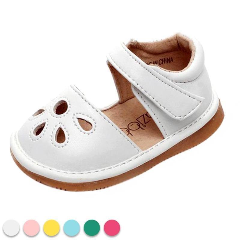 Pu zapatos de cuero verano suave suela antideslizante niño infantil calzado lindo las muchachas inferiores suaves de los muchachos sandales con sonido D3