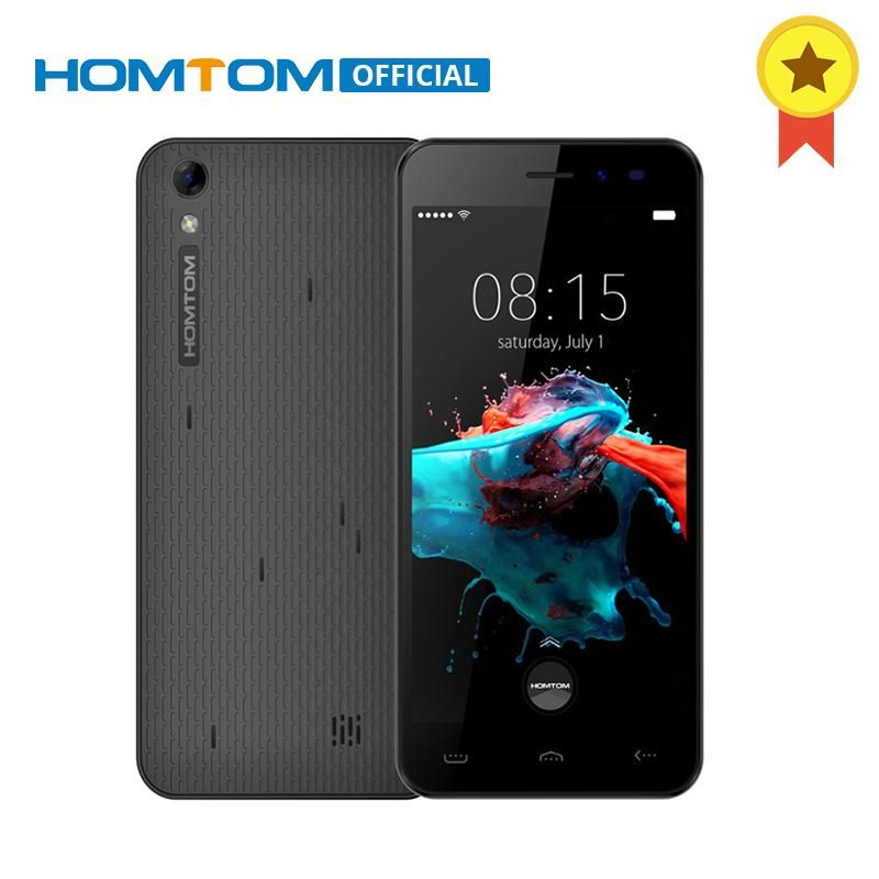 HOMTOM HT16 MTK6580 Quad Core Smartphone Android 6.0 5.0 pouce HD Écran de Téléphone portable 3000 mah 1 gb RAM 8 gb ROM Débloqué Mobile Téléphone