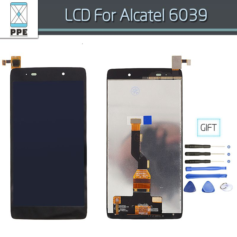 Black LCD for Alcatel OT6039 OneTouch Idol 3 6039 6039Y OT6039Y LCD display touch screen digitizer assembly 4.7