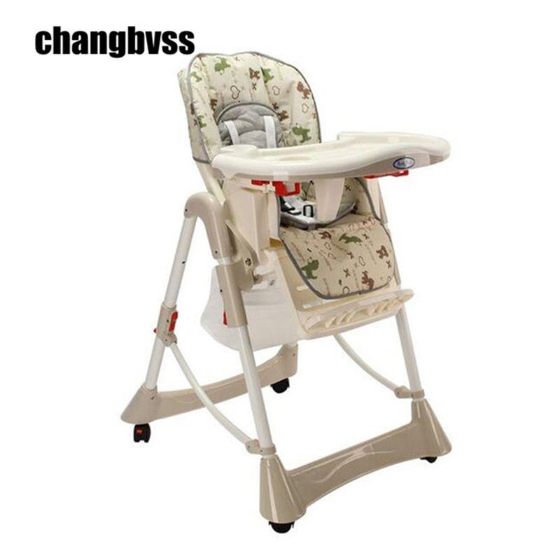 Кормление детское кресло стульчик для кормления ребенка регулируемый и складная детская eatting ужин высоком стуле регулируемая высота