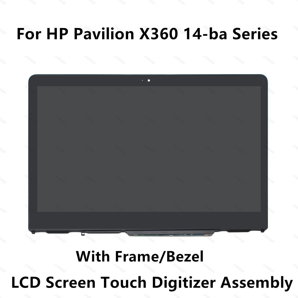 Full LCD Display Touchscreen Glass Digitizer Assembly+Bezel for HP X360 14-BA series 14-ba101ng 14-ba102ng 14-ba103ng 14-ba025ns