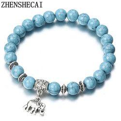 2018 браслет классический акрил голубого цвета с бусинами Браслеты для Для мужчин Для женщин лучший друг Популярные A56