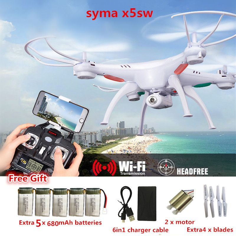 RC Drone Syma X5SW FPV RC Quadcopter Drone with Camera 2.4G 6-Axis RC <font><b>Helicopter</b></font> Drones With Camera HD VS JJRC H31 JJRC H8 Mini