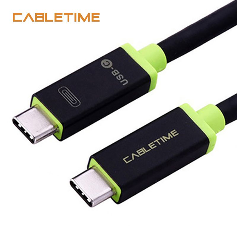 Cabletime Type C Cable Usb Cable Type C to Type C 3.1 Fast Charge Usb C Cable Nylon Braided For MacBook  laptop pad PC N023