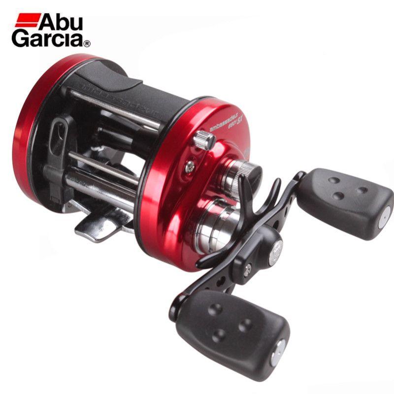 Abu Garcia AMBASSADEUR SX 6600 6601 Köder Casting Angeln Reel 4BB 12,5 kg Max Drag Guss Drum WheelCarretel De Pesca karpfen Rollen