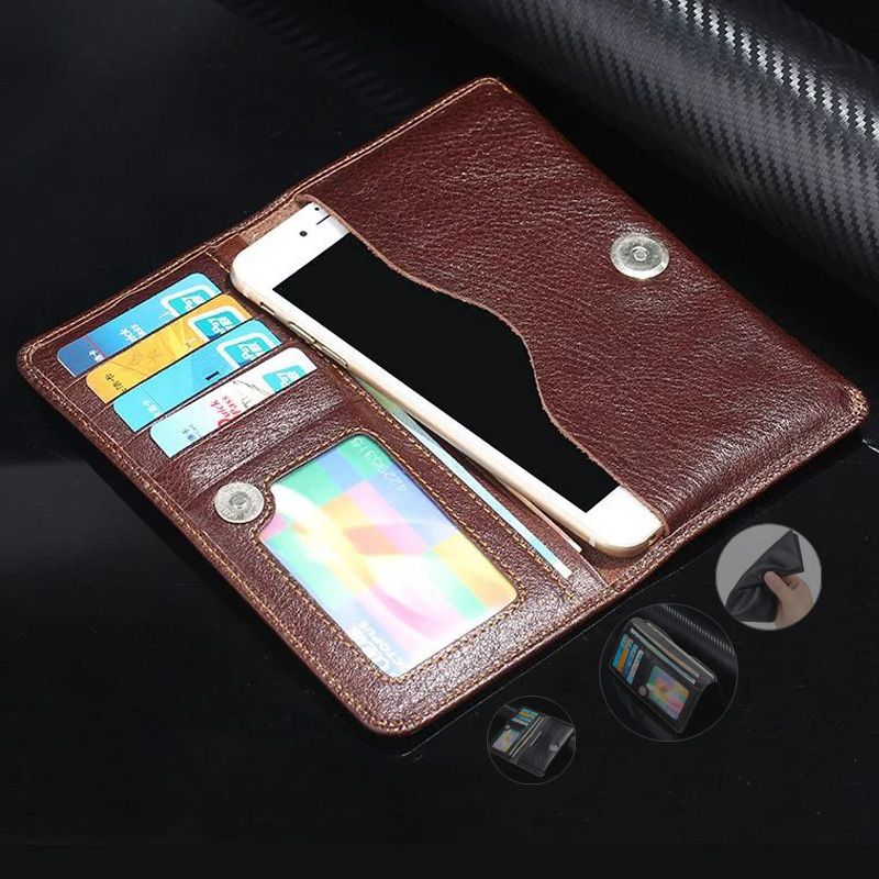 High quality leather phone bag <font><b>Universal</b></font> 3.5~5.7 For Samsung S4 S5 S6 S7 S7 edge note5 note7 for iphone 7 6S SE wallet cases