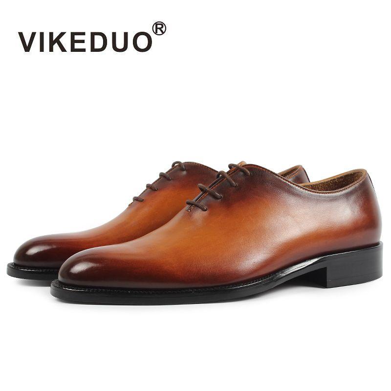 Vikeduo handmade shoes brand designer vintage fashion Wedding Party Dance male genuine leather shoes men's oxford dress shoes