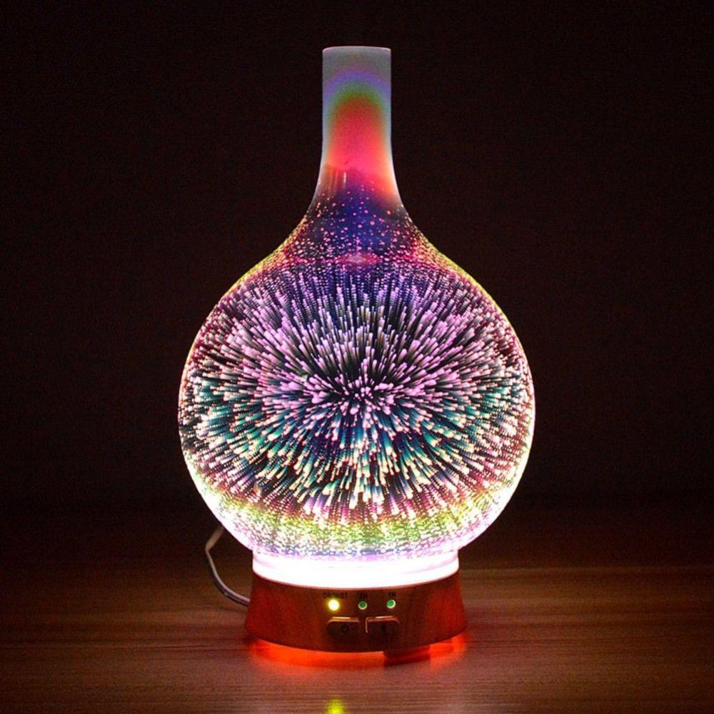 3D Effect Night Light Bedroom Aromatherapy Furnace Creative Home Aromatherapy Light Aroma Furnace Mini Humidifier Sprayer