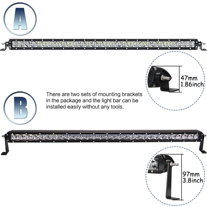 32'' inch 150W OffRoad LED Light Bar With Cree LED Chips Work Lamp 12V 24V IP68 12000LM for 4WD Offroad Truck Jeep UAZ SUV ATV