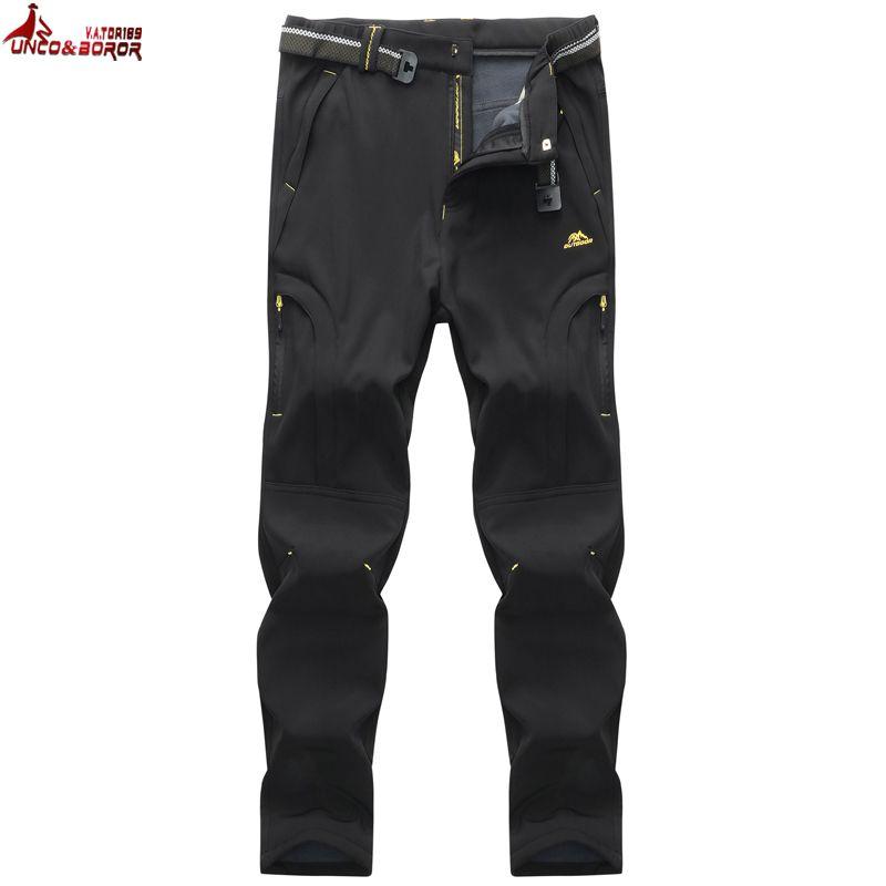 UNCO & BOROR frauen Männer hosen winter Fleece Cargo Pants Atmungsaktiv Thermische winddicht Wasserdicht Hosen hose größe 6XL, 7XL, 8XL