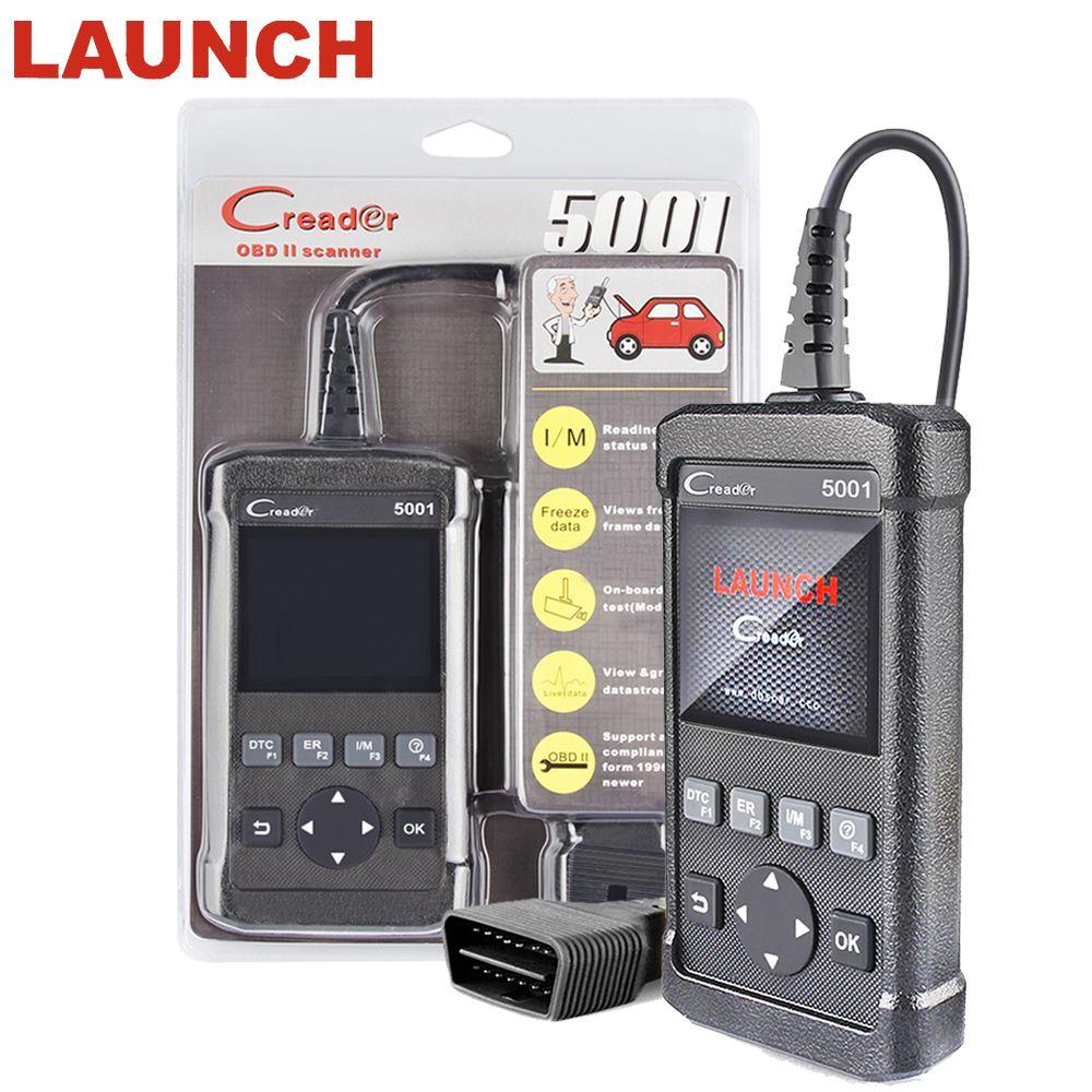 ODB2 OBDII Autos scanner LAUNCH Creader 5001 Support Multi-language For VW/BMW/ BENZ full OBD2/EOBD system auto diagnostic Tool