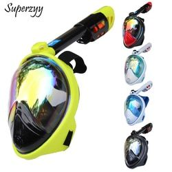 Diving Mask Carbon fiber plating Full Face Anti-fog mask Snorkeling adult Anti-skid Underwater mask professional dive equipment