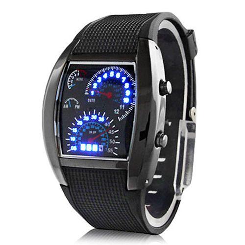 Fashion Men's Stainless Steel Luxury Sport Analog Quartz LED Wrist Watch Top Brand Luxury Watches
