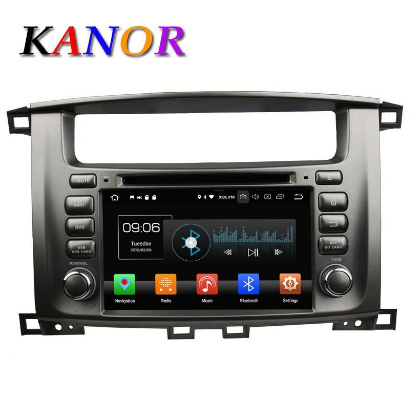 KANOR Android 8.0 Octa Core 2 Din Car Radio For Toyota Land Cruiser 100 Car Radio Audio Video Player 2 Din GPS Multimedia