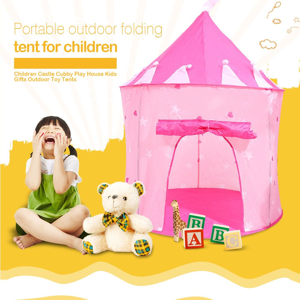 Play Tent Kids Portable Cubby House Foldable Castle Outdoor Sport Toys Tent Backyard Park Party Game Hours for Children Gifts