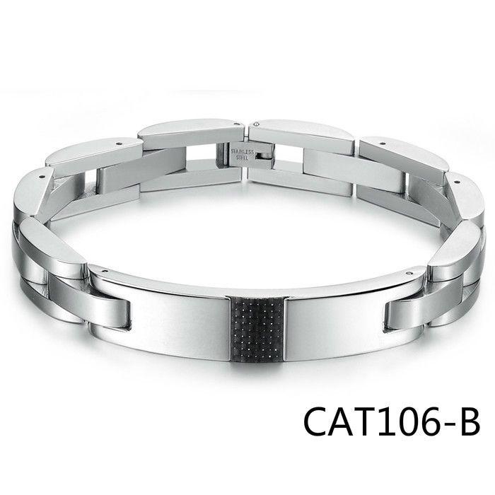 Korean Fashion Ornaments Black Coal Fiber Exceed Cool Type Man Titanium Steel Bracelet GS3135