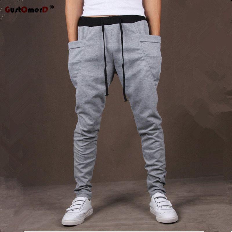 8 Colores 2017 de Bolsillo Único Mens Joggers Carga Hombres Pantalones Deportivos Pantalones Harén Pantalones de Los Hombres Basculador Hombres Pantalones Hombre