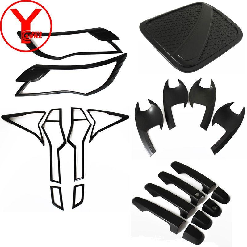 2016-2017 schwarz kit abdeckung Für MITSUBISHI Montero PAJERO SPORT 2016 2017 auto deflektoren innen zubehör form kits YCSUNZ