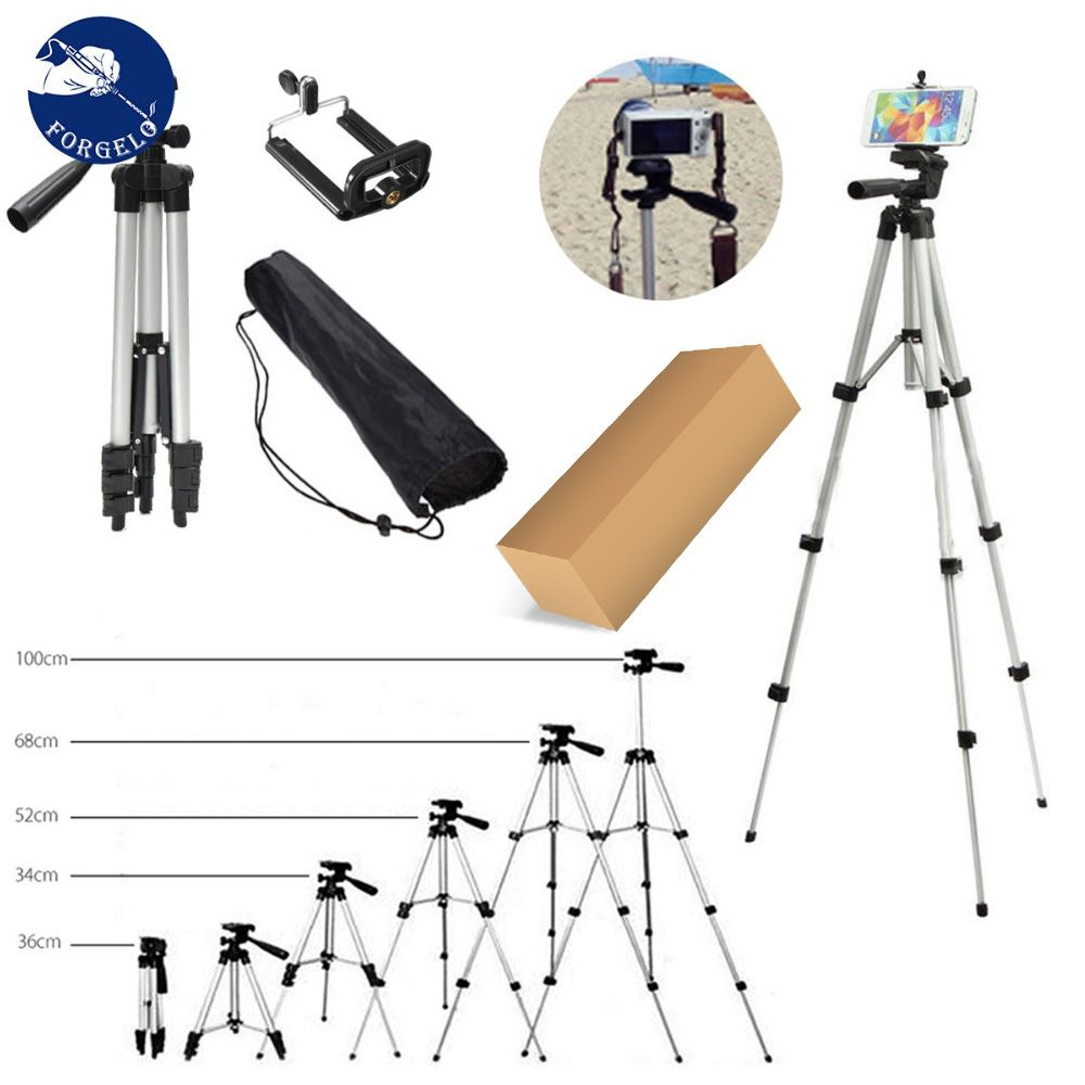 36-100 cm Universal Adjustable Tripod Stand Mount Holder Clip Set For Cell Phone Camera for iPhone XR XS for Samsung S10 S10E