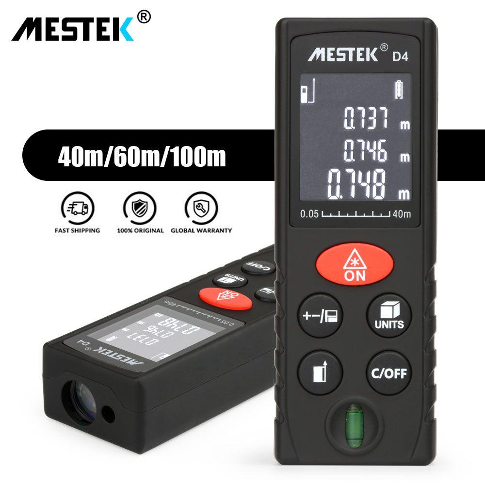 MESTEK Laser Distance Meter 40m 60m 100m Handheld Rangefinder Trena Medidor Laser Tape Ruler Diastimeter Measure Roulette Device