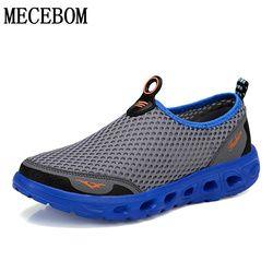 Pria Musim Panas Slip-On Sepatu Fashion Mesh Bernapas Sepatu Kasual Nyaman Ringan Sepatu Sapatos Hombre Ukuran 35- 45X6