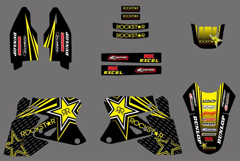 0026  Star New Style TEAM GRAPHICS DECALS Stickers FOR Suzuki DRZ400 DRZ 400 All Years For Kawasaki KLX400 KLX 400 ALL Years