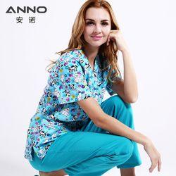 5XL más tamaño azul Hospital enfermería uniformes ropa médica salón de belleza clínica Dental diseño enfermería scrubs mujeres