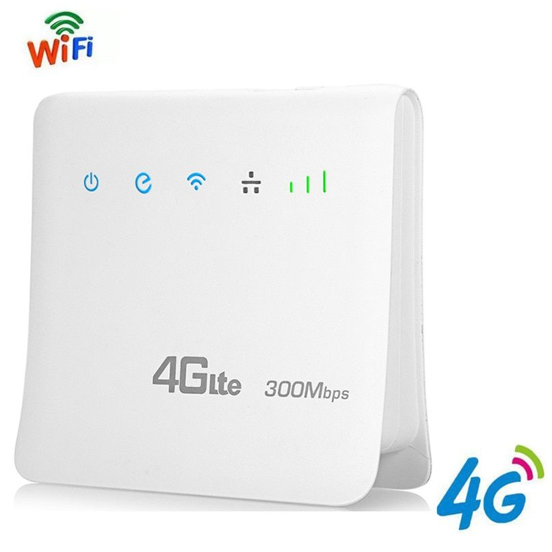 4G LTE CPE Wifi Routers Mobile Hotspots Wireless Broadband Repeater 300Mbps Router Unlocked with LAN Port Support AT&T SIM card