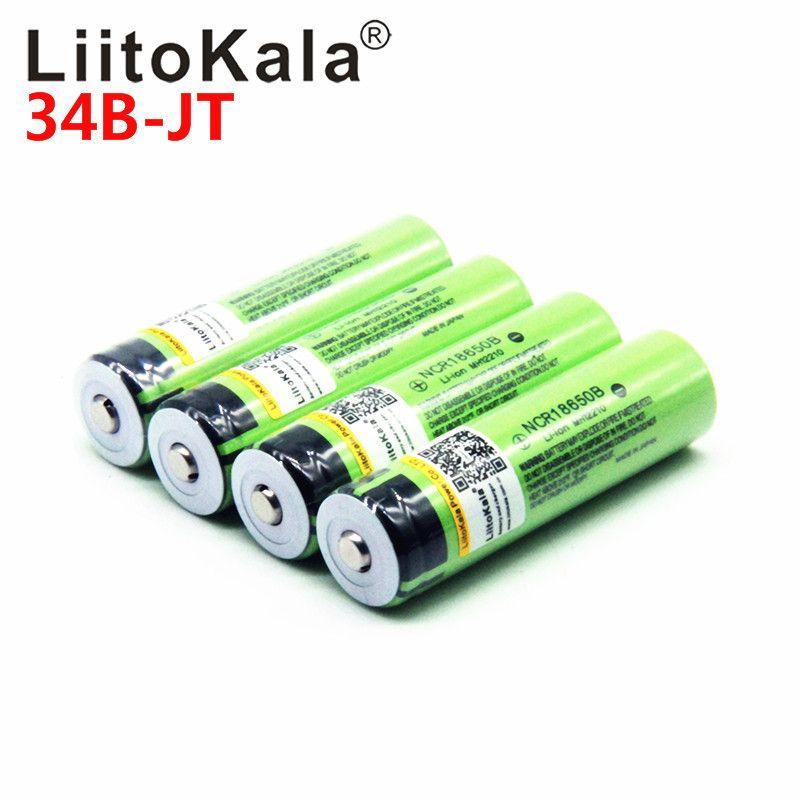 2018 liitokala 18650 3400 mah Neue Original NCR18650B 3000 3400 Wiederaufladbare Li-Ion batterie für für Taschenlampe