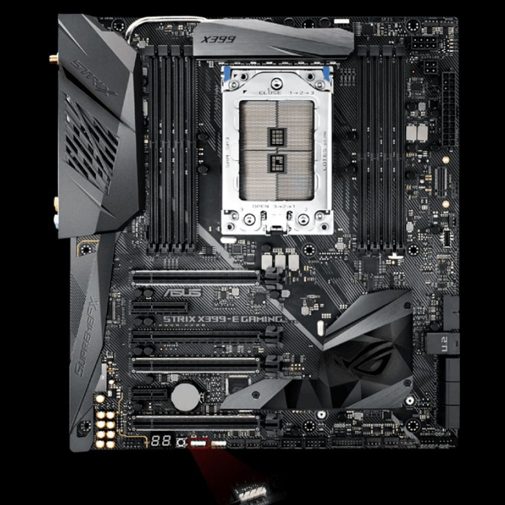 ROG STRIX X399-E GAMING X399 Computer Motherboard Mainboard 8*DIMM Support 128GB 2*M.2 USB 3.1 Gen 2 With RGB Light