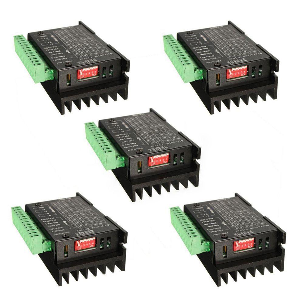 5PCS CNC Single Axis 4A TB6600 Stepper Motor Drivers Controller