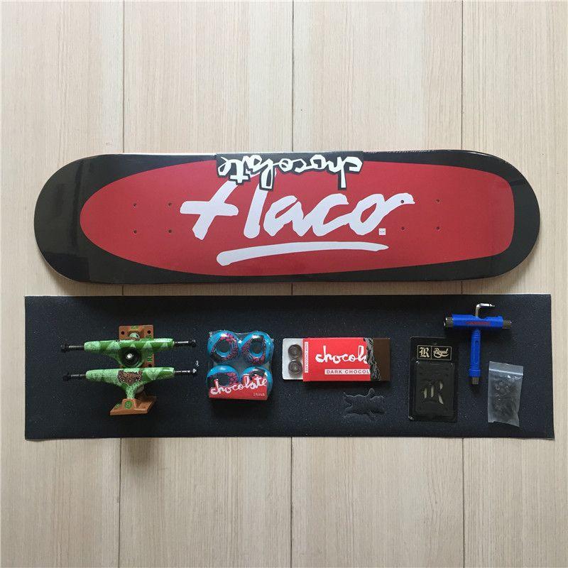 Skateboard CHOCOLATE Deck Ruckus Trucks Chocolate Wheels & Bearings Skate Complete Set with Compelte Skateboard Accessories