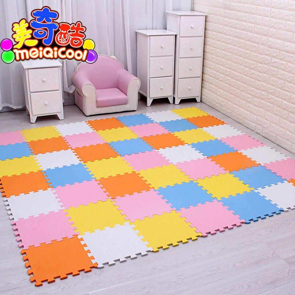 Baby EVA Schaum Spielen Puzzle Matte 18, 24or36/lot Verriegelung Übung Fliesen Boden Teppich Teppich für Kind, jeder 29X29cm0. 8 cm Dicke gym
