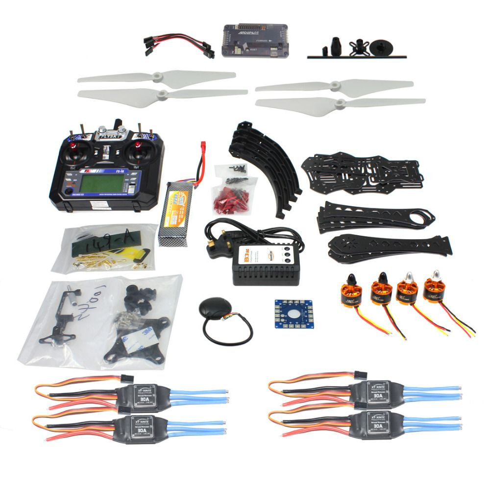 F14893-P Full Kit DIY RC Drone Quadrocopter X4M380L Frame Kit APM 2.8 Gimbal TX