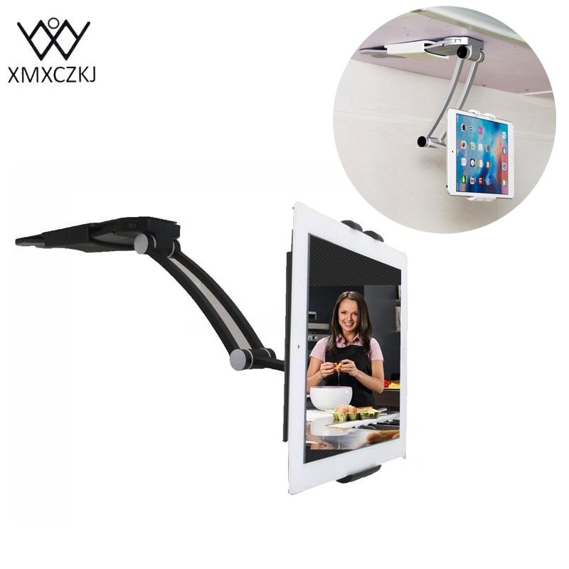 XMXCZKJ Tablet Stand Kitchen Wall Universel Mounted Tablet Wall Holder Cell Phone Holder 13.4 To 19 Cm Width For Iphone Xiaomi