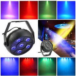 Mini 13W Dj Laser Disco Ball Stage Light 6 Led Rgb Wash Effect Portable Stage Par Light  Auto Sound Activation Indoor Disco Lamp