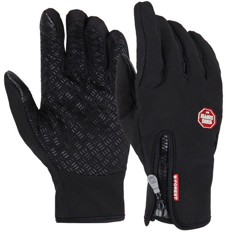 Bike Handschuhe Winter Winddicht Freiensport Skifahren Touchscreen Vollfinger-handschuh Military Motorrad Radfahren Fahrrad Handschuhe