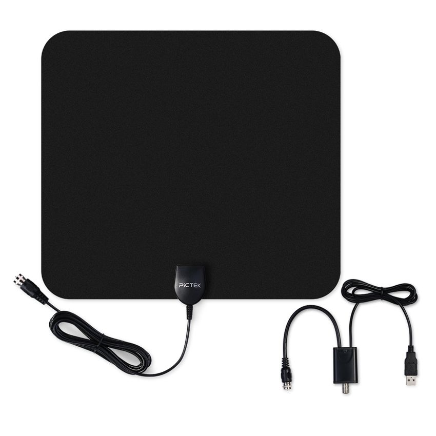 Pictek 25dBi US EU Indoor Digital HDTV TV Antenna with Detachable Amplifier Signal Booster + Optimized Butterfly-Shaped Picture