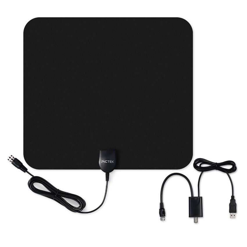 Pictek 25dBi US EU Indoor Digital HDTV TV Antenna with Detachable Amplifier Signal <font><b>Booster</b></font> + Optimized Butterfly-Shaped Picture