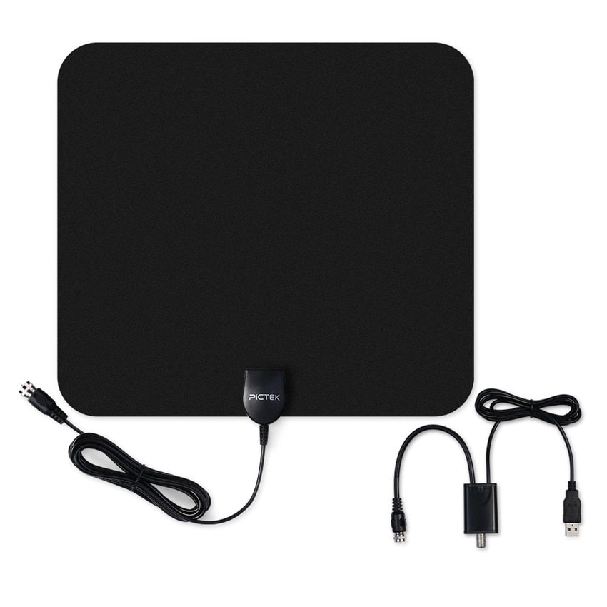 Pictek 25dBi US EU Indoor Digital HDTV TV Antenna with Detachable Amplifier <font><b>Signal</b></font> Booster + Optimized Butterfly-Shaped Picture