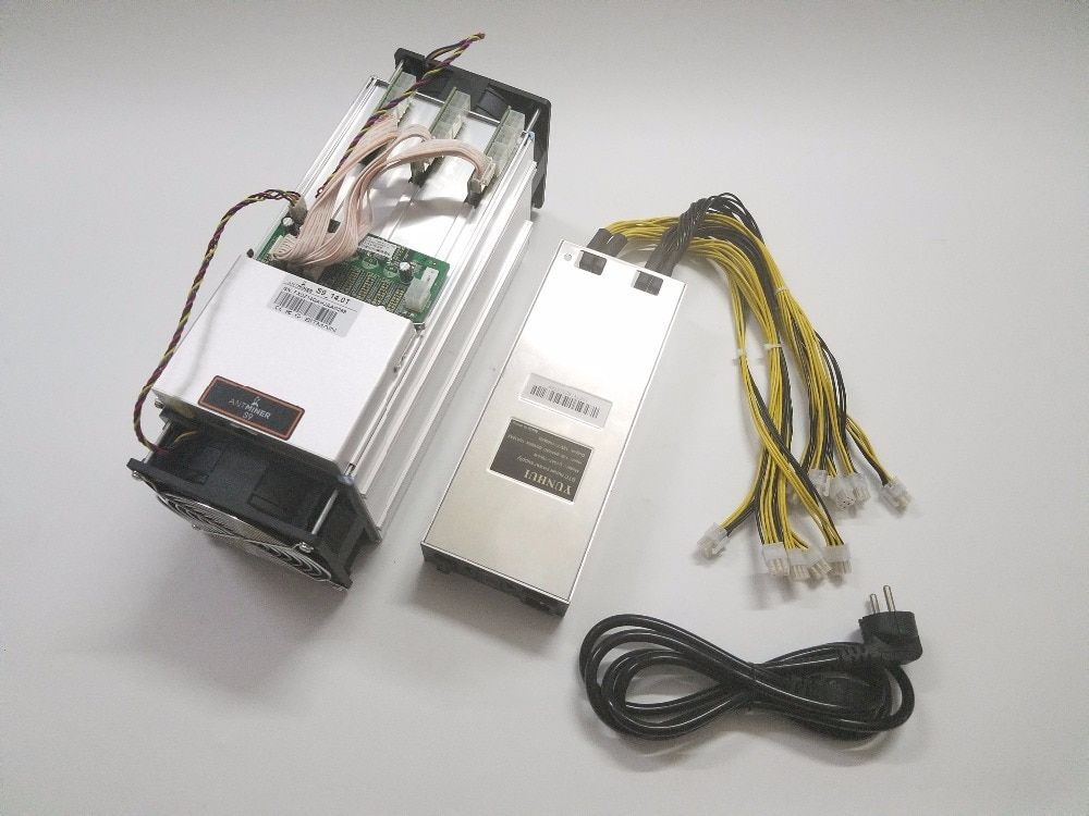 Verwendet ASIC Miner AntMiner S9 14TH/S SHA256 Mit NETZTEIL BTC BCH Miner Besser Als Antminer S9 13,5 T t9 + S11 S15 WhatsMiner M3