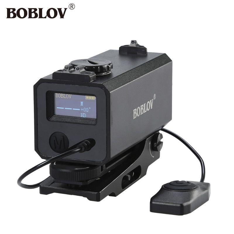 BOBLOV Mini 700m Laser Rangefinder Mechanical Sight for Hunting Rifle Scope Riflescope Mate Target Distance Meter Measurer