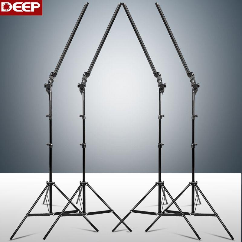Photographie profonde longue lumière LED bande Photo Studio éclairage kit Photo Softbox variateur interrupteur 4 pièces LED 4 pièces Triod