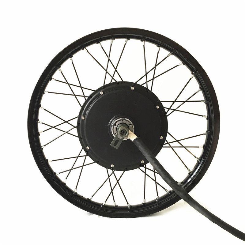 QS V3 moteur 48 v-72 v 5000 w vélo électrique kit 5kw e vélo kit de conversion avec 16