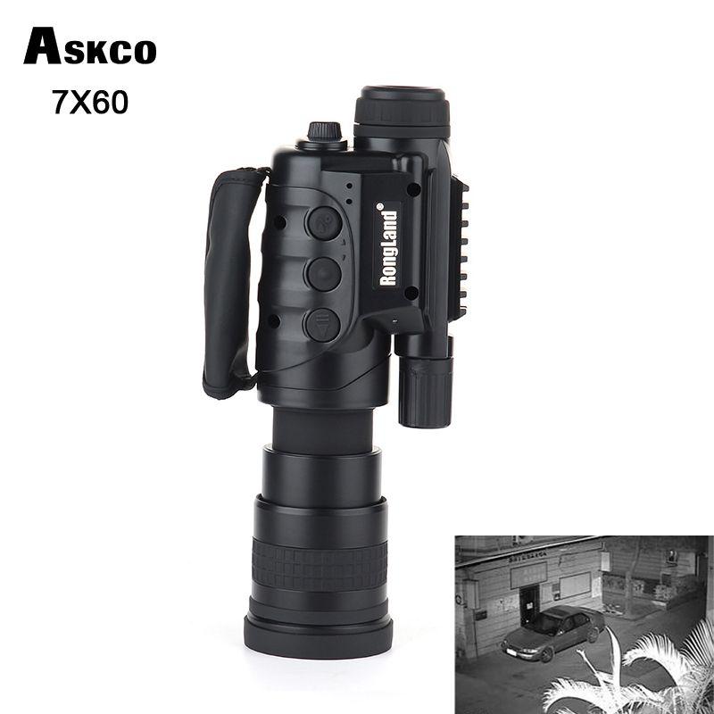 Gen1 7X60 Kamera digitale CCD monokulare Infrarot Automatische Induktive tag nachtsicht brille teleskop umfang für jagd