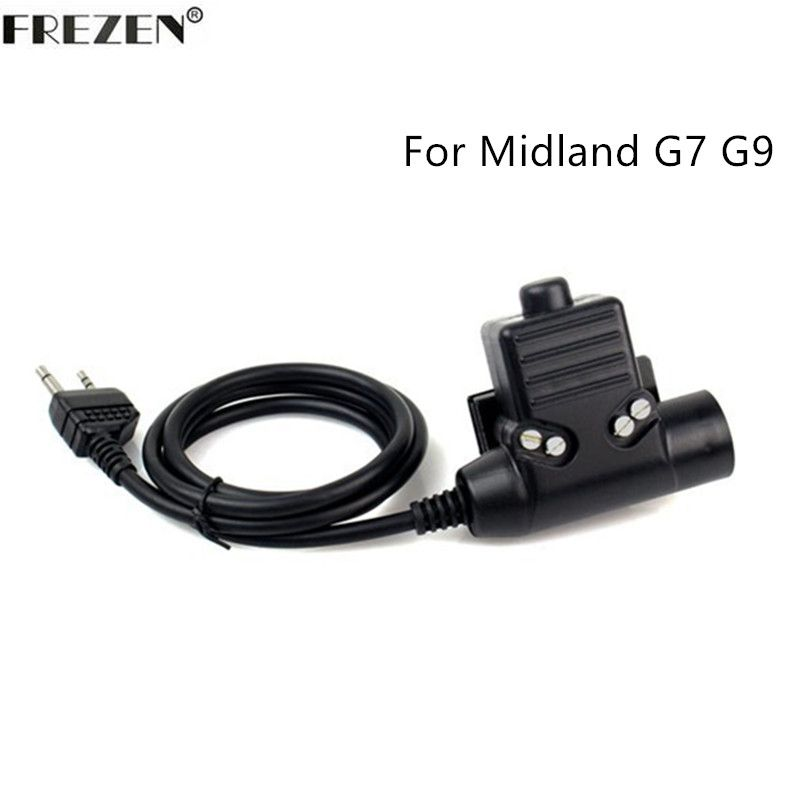 U94 PTT Cable for Z Tactical Bowman Elite II HD01 HD02 Headset For Midland 2 Pin Two Way Radio G6 G7 GXT550 GXT650 LXT80 75-510