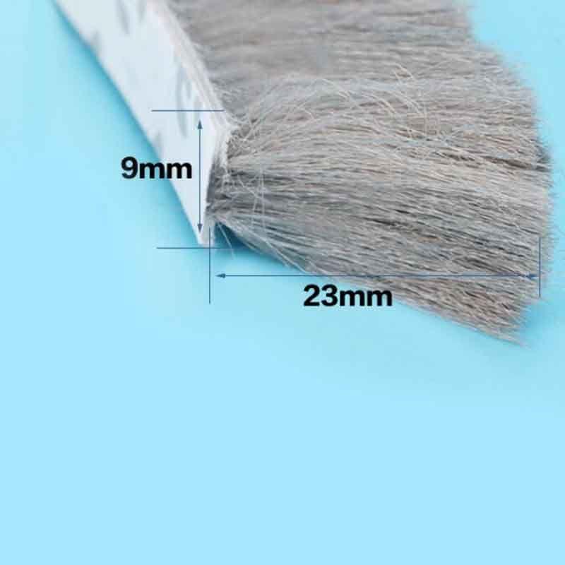 9mm x 23mm accueil porte fenêtre météo vent joint brosse auto-adhésif bande d'étanchéité