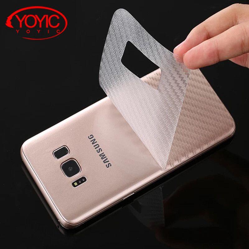En Fiber De carbone 3D Film Souple Pour Samsung Galaxy S8 S8 Plus Clear Scratch-protection Retour Film Pour Samsung Note 8 Écran protecteur