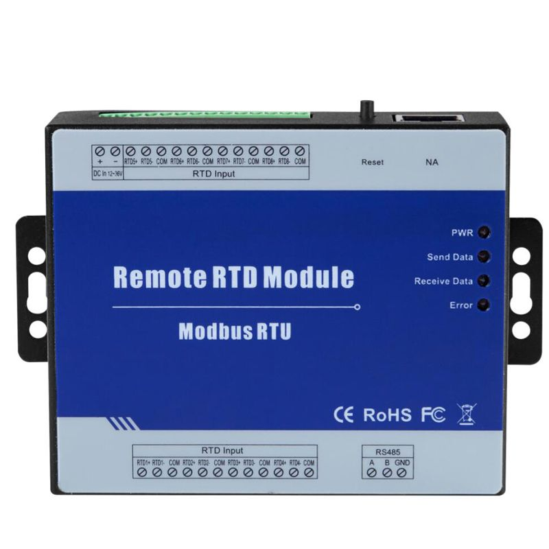 Modbus RTU Remote IO Module 8 RTD Inputs Supports Standard Modbus TCP with RS485 Real-time Monitoring IOT Device M340