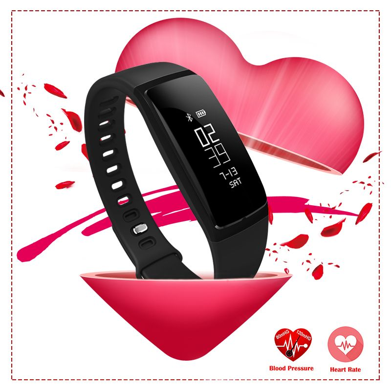 Bluetooth Smart часы Приборы для измерения артериального давления метр Мониторы браслет спортивные часы Шагомер модные женские туфли Смарт Брасл...